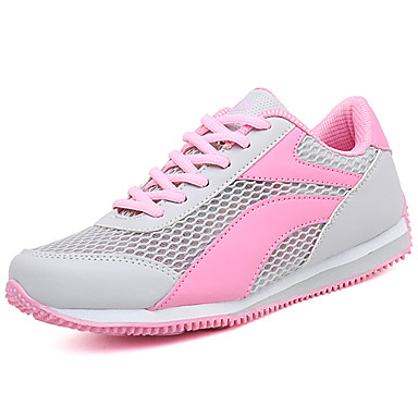 Women's Athletic Shoes Comfort Spring Fall PU Outdoor Blue Blushing Pink Royal Blue Flat