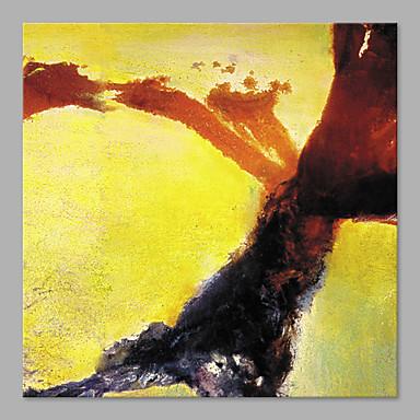 Maalattu Abstrakti Neliö, Rantatyyliä Kangas Hang-Painted öljymaalaus Kodinsisustus 1 paneeli