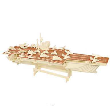 3D Puzzles Metal Puzzles Wood Model Model Building Kit Warship DIY Natural Wood Classic Kid's Adults' Unisex Gift