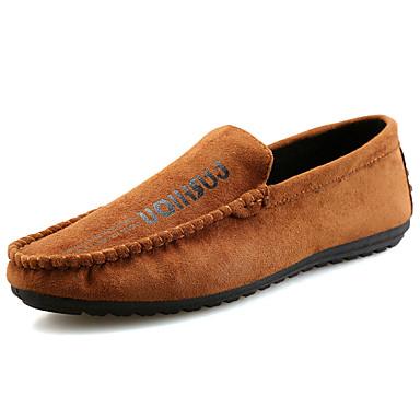 Homens sapatos Borracha Primavera Outono Mocassim Mocassins e Slip-Ons para Ao ar livre Preto Marron