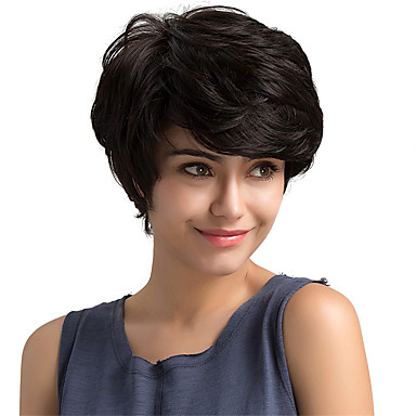 Human Hair Capless Wigs Human Hair Natural Wave Classic High Quality Machine Made Wig Daily