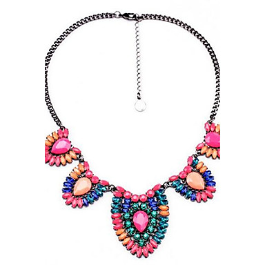 Women's Statement Necklaces Geometric Alloy Personalized Vintage Rainbow Bohemian Fashion Jewelry For Ceremony Casual Holiday Festival