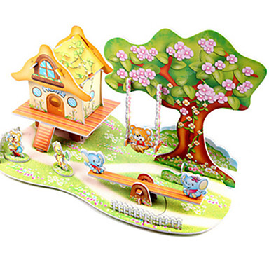 3D Puzzle Jigsaw Puzzle Model Building Kit Famous buildings Ship DIY Hard Card Paper Classic Anime Cartoon Kid's Unisex Gift