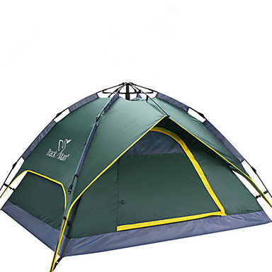 Trackman® 3-4 persons Tent Double Camping Tent One Room Automatic Tent Ultraviolet Resistant Rain-Proof Dust Proof Foldable Lightweight