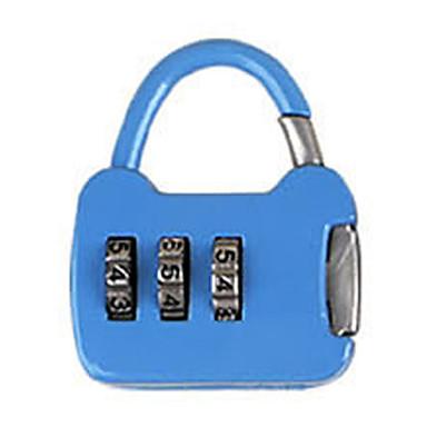 Andre zink legering passord hengelås 3 siffer passord notatbok liten passord lås mini bag lås metall koffert boks bag dail lock passord