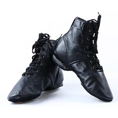 44e168f64a8f Dámské Boty na jazzové tance Koženka   Kůže Plochá podrážka   Podpatky  Rovná podrážka Obyčejné Taneční boty Černá   Trénink