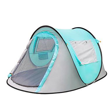 3-4 personer Telt Enkelt camping Tent Utendørs Pop opp telt Varm Vanntett Regn-sikker Telt Solbeskyttelse til Camping & Fjellvandring