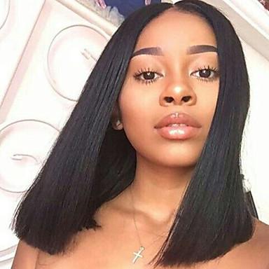 Hot Bob Human Virgin Hair Wig 150% Density Human Virgin Hair Black Color Wig with Baby Hair For Black Women