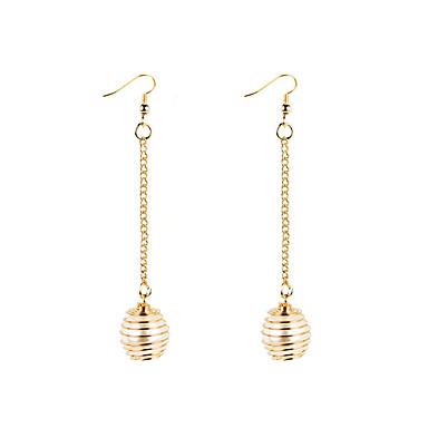 Mulheres Brincos Compridos - Personalizada, Circular, Geométrico Dourado / Prata Para Presentes de Natal / Casamento / Festa