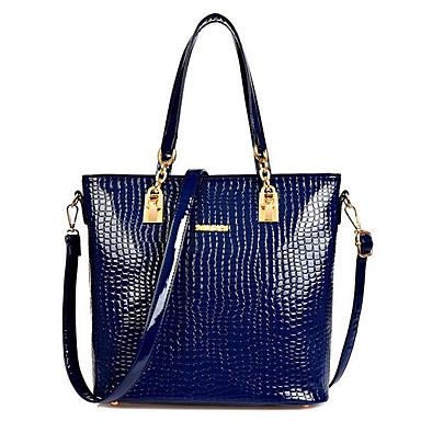Women Shoulder Bag PU All Seasons Casual Outdoor Drops Zipper Blue