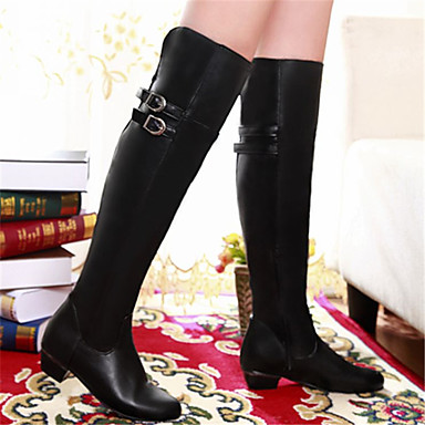1460cef67e3 Γυναικείο Παπούτσια PU Φθινόπωρο Χειμώνας Ανατομικό Μπότες Χοντρό Τακούνι  Στρογγυλή Μύτη Για Causal Λευκό Μαύρο Καφέ 6049085 2017 – $19.99