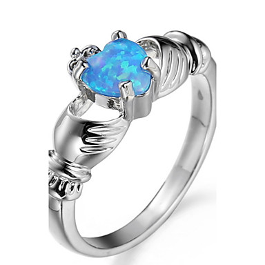 Dame Steninnfatninger Ring Band Ring Kubisk Zirkonium Rhinstein Personalisert Luksus Unikt design Klassisk Rhinestone Grunnleggende Sexy