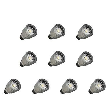 abordables Ampoules électriques-10pcs 7 W Spot LED 780 lm GU10 1 Perles LED COB Intensité Réglable Blanc Chaud Blanc Froid 110-220 V / 10 pièces