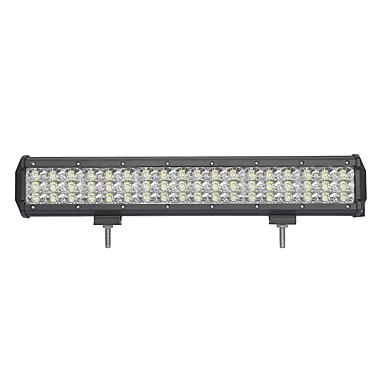 162w-row 16200lm luz de trabalho para carro / barco / farol 162w tipo / c 6000k led branco combo linhas duplas 9v-32v