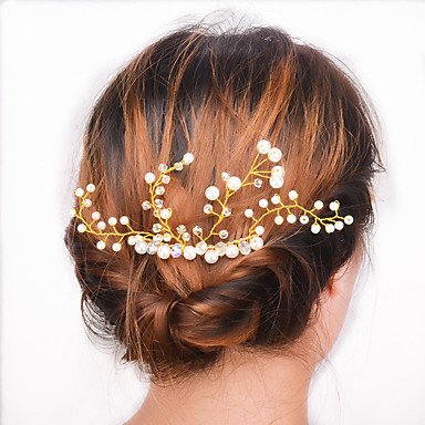 Európa és az Egyesült Államok külkereskedelmi divat haj kiegészítők szerződött joker esküvő fél fésű haj nő a0081 csendesen elegáns gyöngy