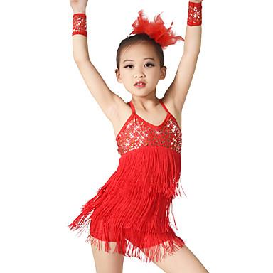 e54bd0b98 Latin Dance Outfits Women s Performance Elastic Elastane Sequined ...