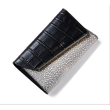 Women Coin Purse Cowhide All Seasons Casual Outdoor Rectangle Button White Black