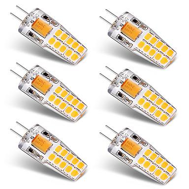 BRELONG® 6db 3 W 300 lm G4 LED betűzős izzók T 20 led SMD 2835 Meleg fehér Fehér