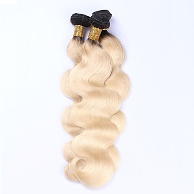 Beata Hair Peruvian Remy Virgin Human Hair Bundles Body Wave T1b/613# Ombre Blonde Hair Weft Extensions