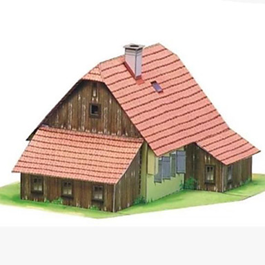 3D Puzzles Paper Craft House DIY Hard Card Paper Kid's Boys' Unisex Gift