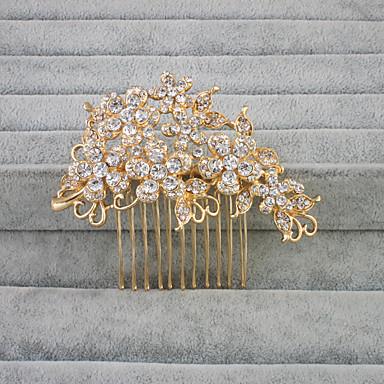 Cristal Strass Pentes de cabelo 1 Casamento Capacete