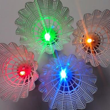 4kpl Vapaa-ajan urheilu Sulkapallo LED-valo LED valot LED valot Kevyet materiaalit varten PC