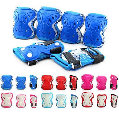 Kinder Schutzausrüstung Knieschoner, Ellenbogenschoner & Handgelenkschoner für Inline-Skates Rollschuhe Skateboarding Atmungsaktiv