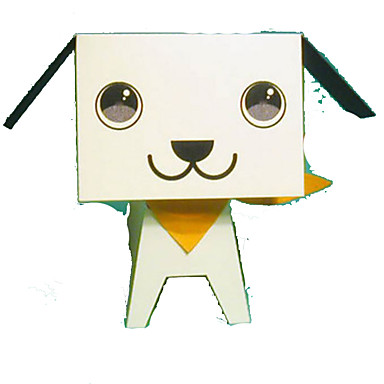 Quebra-Cabeças 3D Maquetes de Papel Artesanato de Papel Brinquedos de Montar Circular Cachorros 3D Animais Faça Você Mesmo Clássico