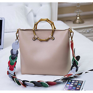 Women Shoulder Bag PU All Seasons Casual Outdoor Square Zipper Gold Black Blushing Pink