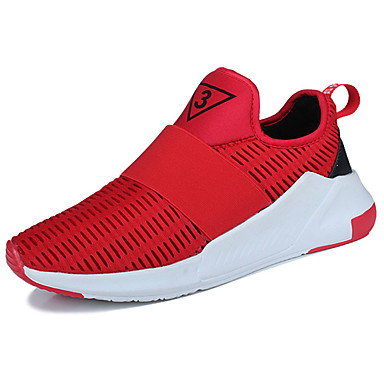 Men's Shoes Tulle Summer Comfort Athletic Shoes Walking Shoes Hollow-out For Casual Black Gray Red