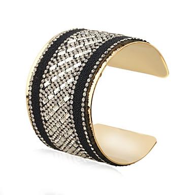 Women's Bangles Cuff Bracelet Fashion Ferroalloy Metal Alloy Rhinestone Geometric Jewelry Club Casual/Daily Birthday Party Street Costume