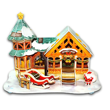 3D Puzzles Jigsaw Puzzle Model Building Kits Toys Christmas Famous buildings House Architecture 3D DIY Hard Card Paper Not Specified