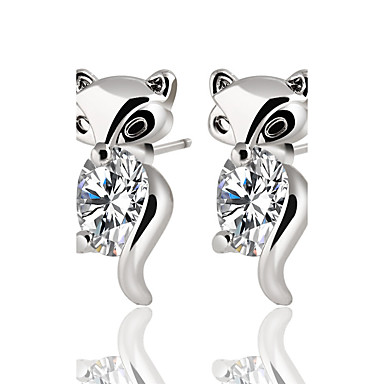 Women's Crystal Cubic Zirconia Stud Earrings - Zircon, Silver Plated, Gold Plated Animal Personalized, Classic, Bohemian Gold / Silver For Christmas Christmas Gifts Wedding