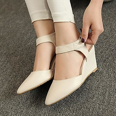 Women's Shoes PU Spring Summer Comfort Sandals For Casual White Black