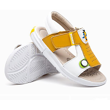 Girls' Shoes Leatherette Spring Fall First Walkers Flats Walking Shoes Magic Tape For Casual Yellow Blue Burgundy