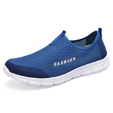 Naiset Mokkasiinit Comfort Tyll Kesä Urheilullinen Kävely Comfort Tasapohja Tumman sininen Vaalean harmaa Laivastosininen Tasapohja