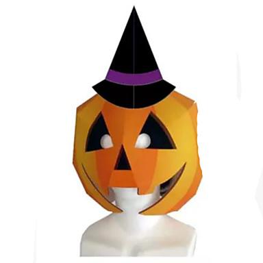 Máscaras de Dia das Bruxas Artesanato de Papel Brinquedos Faça Você Mesmo Quadrada Abóbora 3D Cartão de Papel Duro Terror Clássico Peças