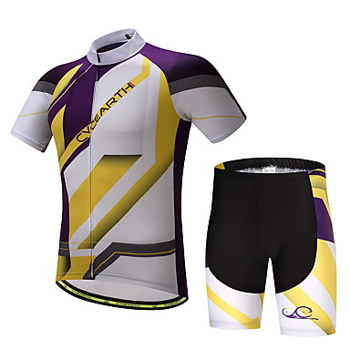 Men's Cycling Jersey with Shorts Bike Clothing Suits, Quick Dry, Summer