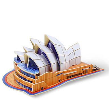 Robotime 3D-puslespill Puslespill Tremodeller Modellsett Kjent bygning Arkitektur Sydney operahus 3D Tre Unisex Gave