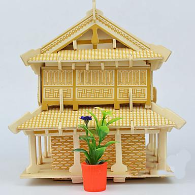 3D-puslespill Puslespill Tremodeller Modellsett Kjent bygning Kinesisk arkitektur Arkitektur 3D GDS Tre Kinesisk Stil Unisex Gave