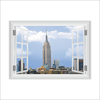 Decorative Wall Stickers - 3D Wall Stickers Fashion Architecture Cartoon Living Room Bedroom Bathroom Kitchen Dining Room Study Room /
