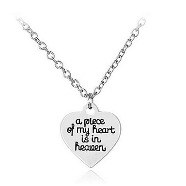 Women's Pendant Necklaces Jewelry Alloy Basic Fashion Inspirational Euramerican Jewelry For Birthday Thank You Daily Casual