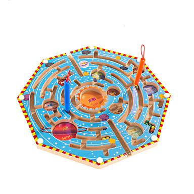 Balls Maze Magnetic Maze Toy Flat Shape Magnetic Wood Kid's Gift 1pcs