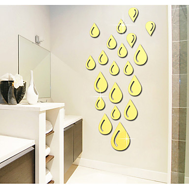 Decorative Wall Stickers - Mirror Wall Stickers Abstract / Shapes / 3D Living Room / Bedroom / Study Room / Office