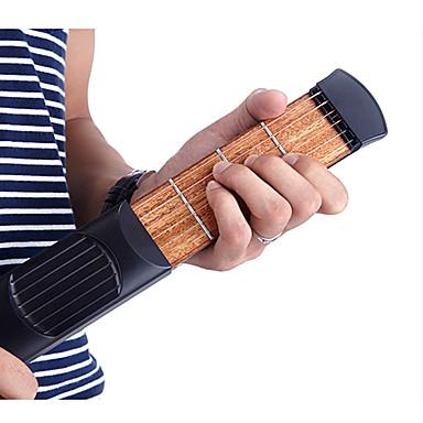 Guitarra Acústica Portátil Brinquedos 6 String 4 Fret para iniciante ABS Clássico 1 Peças Dom