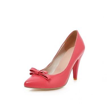Mulheres Sapatos Courino Couro Ecológico Verão Outono Conforto Inovador Saltos Caminhada Salto Agulha Dedo Apontado Laço para Social