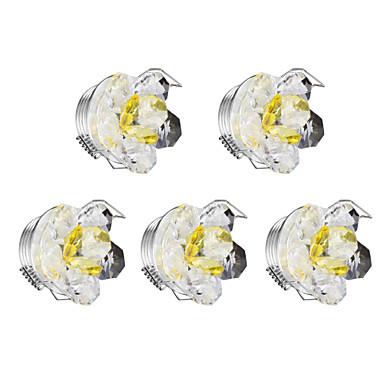 1 W LED Tompítható LED mélysugárzók Meleg fehér 220 V