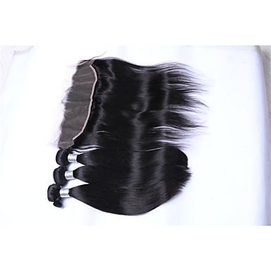 Brazil haj Egyenes Emberi haj sző 4 darab 0.4