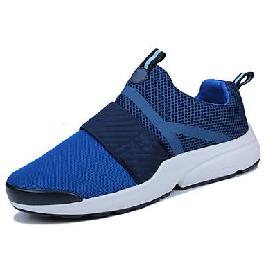 Homens sapatos Tule Primavera Outono Conforto Tênis Caminhada para Casual Preto Azul Branco/Preto Preto/Vermelho Preto/Verde
