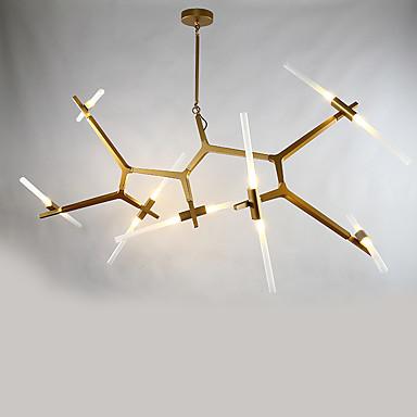 14 hoder etter moderne aluminium med glass lysekrone lampe for soverommet / kantine rom / bar / kafferom dekorere anheng lampe